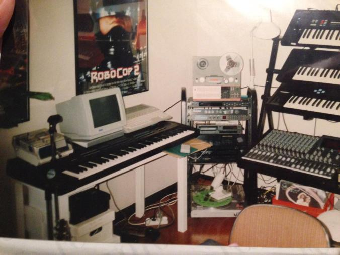 Dj Crillo's Atari ST based studio in the 90s